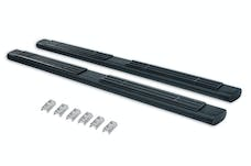 "Big Country Truck Accessories 396870 6"" WIDESIDER Platinum Side Bars - 87"" Long - Textured Black - Bars Only"