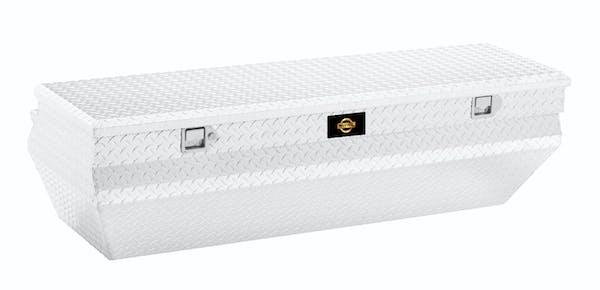 "Brandit APCTB55WN 55"" Notched Chest Box Wedge Toolbox (Bright Aluminum Finish)"