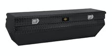 "Brandit APTBC62WNB 62"" Notched Chest Box Wedge Toolbox (Black Powder Coated Aluminum Finish)"