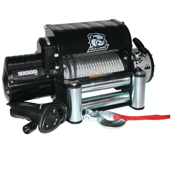 Bulldog Winch 10005 10000lb Winch w/5.8hp Series Wnd Motor, Integrated Pwr Unit, Roller Fairlead