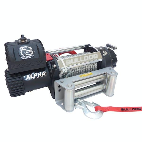 Bulldog Winch 10027 12500lb Alpha Series winch, 90ft wire rope, Roller Fairlead