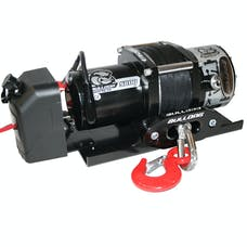 Bulldog Winch 10030 5800lb Trailer Winch, 50' Syn Rope, Hawse Fairlead, Mnt Plate, Low Profile