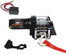 Bulldog Winch 15002 3000lb ATV Winch with Mini-Rocker Switch, Mounting Channel, Roller Fairlead
