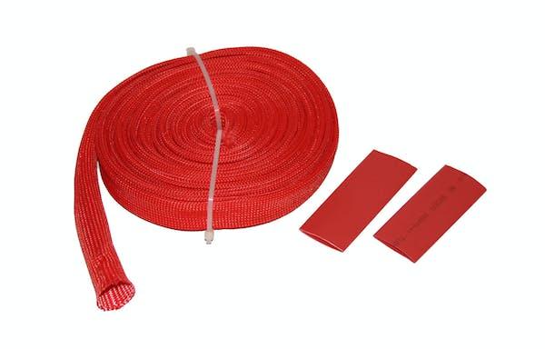 "Bulldog Winch 20137 Wire Sheathing, high heat fiberglass 14mm x 25ft (1/2"") red"