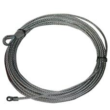 "Bulldog Winch 20214 Wire Rope 10031 1/5"" x 47' (8.1mm x 14.5m)"