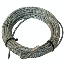 """Bulldog Winch 20222 Wire Rope for 15017, 3/16""""x45'"""