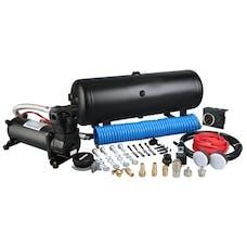 Bulldog Winch 41005 On Board Air Kit, 145psi 1.8cfm, 2.5 gallon air tank, in-cab gauge & switch