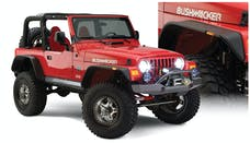Bushwacker 10920-07 Flat Style Jeep Fender Flares, 4pc