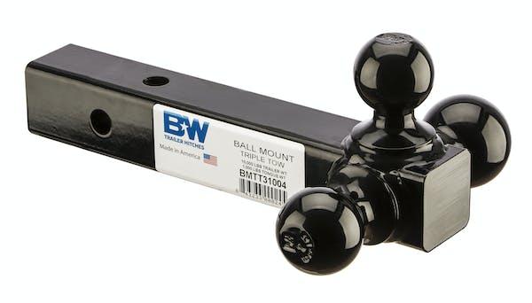 B&W Towing BMTT31004 10K Triple Tow Ball Mnt-Pcwbag