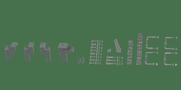 B&W Towing RVR2601 Custom Installation Kit For Universal Mounting Rails For Some RAM Trucks
