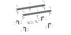 B&W Towing RVR3200 Universal Mounting Rails For 5th Wheel Hitches