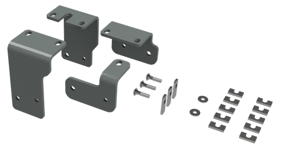 B&W Towing RVR3203 Custom Installation Kit For Universal Mounting Rails For Some Nissan  Trucks