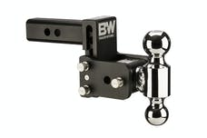 B&W Towing TS10033B B&W Tow And Stow Dual Ball 2 Adj Ball Mount 3 Drop/3-1/2 Rise, Black