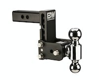 B&W Towing TS10037B B&W Tow And Stow Dual Ball 2 Adj Ball Mount 5 Drop/5-1/2 Rise, Black
