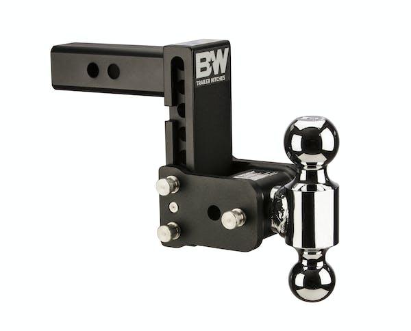 B&W Towing TS10037B B&W Tow And Stow Dual Ball 2 Adj Ball Mount 5 Drop/5-1/2 Rise, Black
