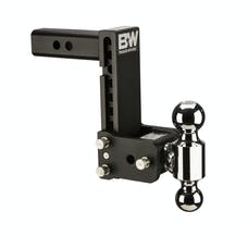 B&W Towing TS10040B B&W Tow And Stow Tri Ball 2 Adj Ball Mount 5 Drop/5-1/2 Rise, Black
