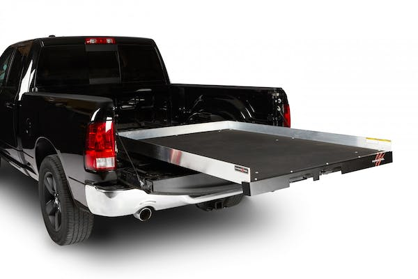 """CargoEase CE7548FX1 1000Lb Capacity,100% Extension, 16 Bearings, 4 Tiedown, 4"""" Rails, Plywood Deck"""