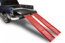 """CargoEase CE8638CCR 1800Lb Capacity,75% Extension, 8 Bearings, 4 Tiedowns, 4"""" Rails, PE Plywood Deck"""