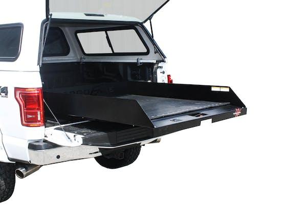 "CargoEase CE9548C20 2000Lb Capacity,75% Extension,8 Bearings, 4 Tiedowns, 8"" Rails, PE Plywood Deck"