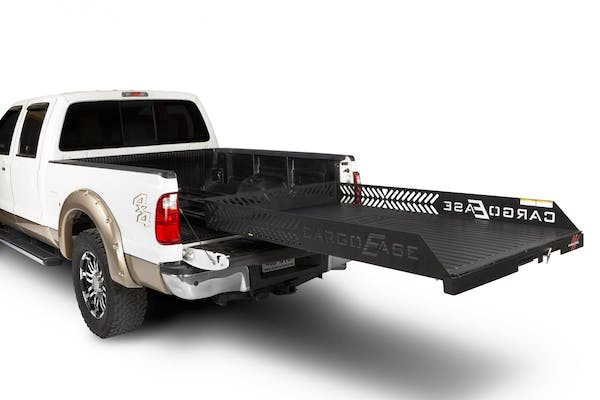 """CargoEase CE9548FX 2000 lb Capacity, 100% Extension, 16 Bearings,4 Tie Downs, 8""""Rails, Plywood Deck"""