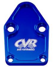 CVR Performance BOP63BL Fuel Pump Block-Off Plate – SB Chevy – Blue