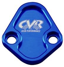 CVR Performance BOP64BL Fuel Pump Block-Off Plate – BB Chevy/Chrysler 273-440/Ford* – Blue