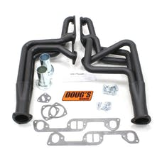 "Doug's Headers D570-B 1 3/4"" 4-Tube Full Length Header Hi-Temp Black Coating"