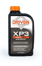 Driven Racing Oil 00306 XP3 10W-30 Synthetic Racing Oil  (1 qt. bottle)