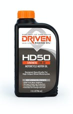 Driven Racing Oil 02706 HD50 Synthetic Motorcycle Motor Oil (1 qt. bottle)