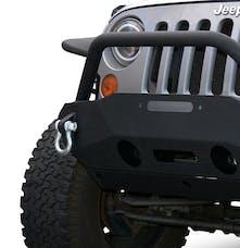 DV8 Offroad FBSHTB-16 Jeep JK Front Bumper w/Fog Lights FS-16 07-18 Wrangler JK Steel Stubby