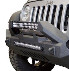 DV8 Offroad FBSHTB-17 Jeep JK Front Bumper w/Fog Lights FS-17 07-18 Wrangler JK Steel Mid Length