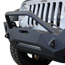 DV8 Offroad FBSHTB-18 Jeep JK Front Bumper w/Fog Lights FS-18 07-18 Wrangler JK Steel Mid Length