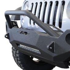 DV8 Offroad FBSHTB-19 Jeep JK Front Bumper w/Fog Lights FS-19 07-18 Wrangler JK Steel Mid Length