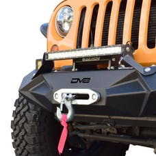 DV8 Offroad FBSHTB-24 Jeep JK/JL Front Bumper w/Light Bracket Winch Plate Steel Stubby