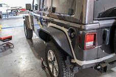 DV8 Offroad FDJL-04 Jeep JL Wide Flat Fenders Set of 4 18-Present Wrangler JL