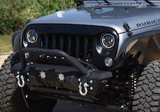 DV8 Offroad GRABB07 Jeep JK ABS Grill Textured Black 07-18 Wrangler JK
