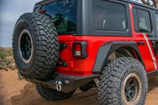 DV8 Offroad TCJL-01 Jeep JL Tailgate Mounted Tire Carrier 18-Present Wrangler JL