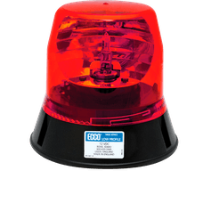 ECCO 5813R 5800 Series Low-Profile Rotating Halogen Beacon (3-Bolt Mount, Red)