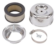 "Edelbrock 1202 Edelbrock Chrome Air Cleaner Assembly for 94 Series Carburetor (4.65"")"