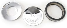 "Edelbrock 1208 Pro-Flo Chrome 10"" Round Air Cleaner with 2"" Paper Element (Deep Flange)"