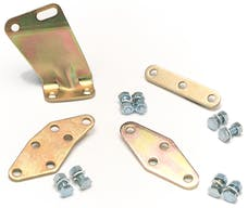Edelbrock 1490 CABLE PLATE 289-302, GOLD FINISH