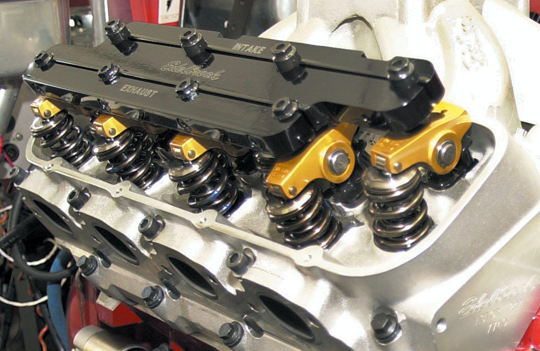 COMP Cams Rocker Arm Stud Girdle 4051; Red Anodized Aluminum for Pontiac V8