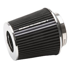 "Edelbrock 43640 Pro-Flo Universal Black Medium Conical Air Filter with 3"", 3.5"", and 4"" Inlet"