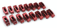 Edelbrock 77770 Red Roller Rockers for Small-Block Chevy 3/8 stud 1.5:1 Ratio (Qty 16)