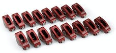 Edelbrock 77780 Red Roller Rockers for Small-Block Ford 3/8 stud 1.6:1 (Qty 16)