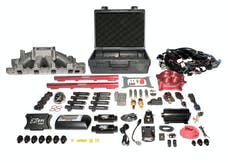 FAST - Fuel Air Spark Technology 3031302-05E EZ EFI SBF Multiport System w/ Intake, Fuel System and Red Throttle Body