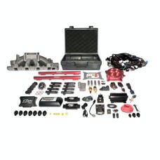 FAST - Fuel Air Spark Technology 3035351-05E EZ EFI Windsor Multiport System w/ Intake, Fuel System and Red Throttle Body