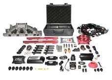 FAST - Fuel Air Spark Technology 3035351-10E EZ EFI Windsor Multiport System w/ Intake, Fuel System and Red Throttle Body