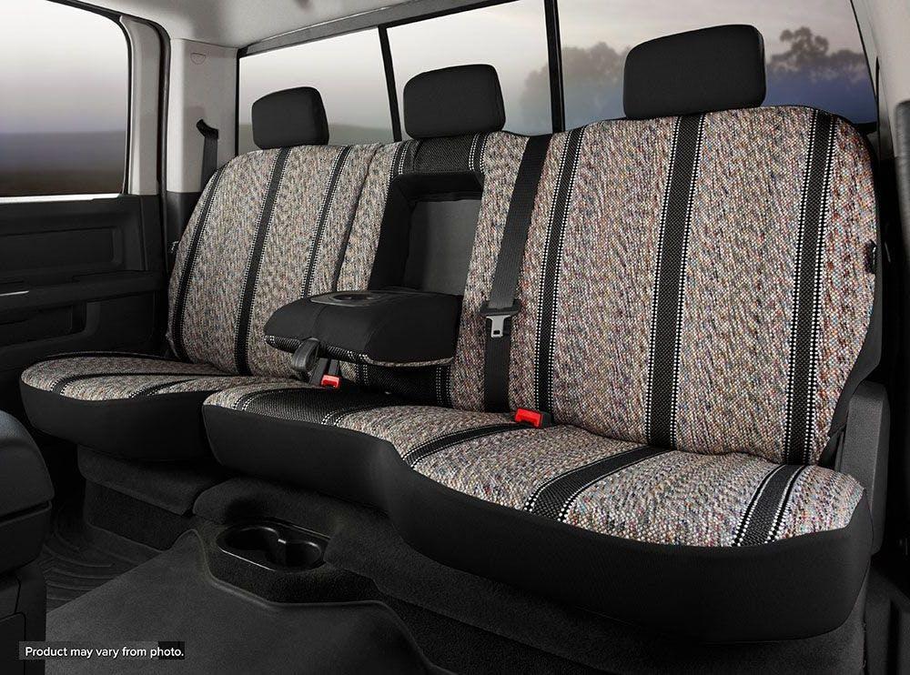 Fia TR42-94 BLACK Custom Fit Rear Seat Cover Split Seat 60//40 Black Saddle Blanket,
