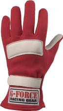 G-FORCE Racing Gear 4101SMLRD GF G5 GLOVES SFI 3.3/5  SMALL RED